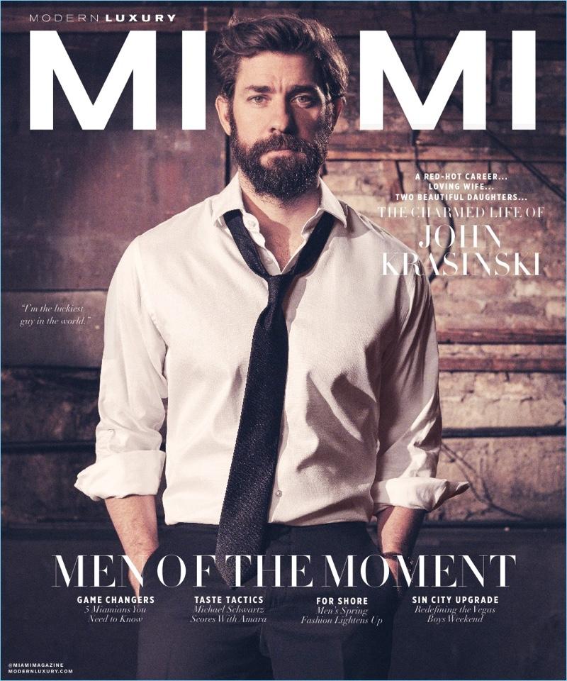 Actor John Krasinski covers the April 2018 issue of Modern Luxury Miami.
