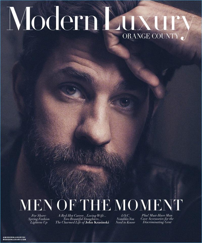 John Krasinski covers the April 2018 issue of Modern Luxury.