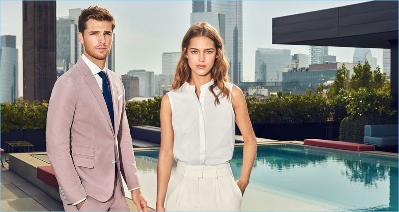 Models Edward Wilding and Julia Frauche appear in Joop!'s spring-summer 2018 campaign.