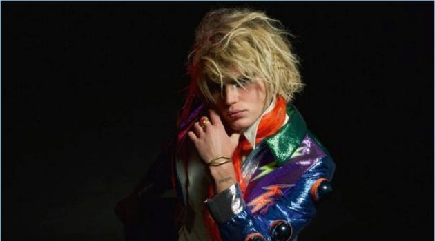 Boys Will Be Girls: Jordan Barrett Rocks Gucci for Crash Cover Shoot