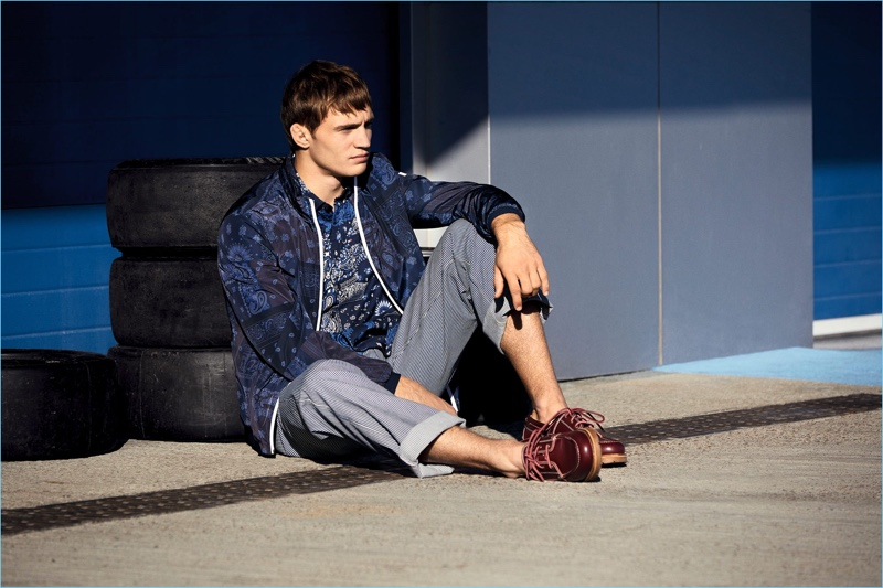Going casual for the season, Julian Schneyder fronts Tommy Hilfiger's new outing.