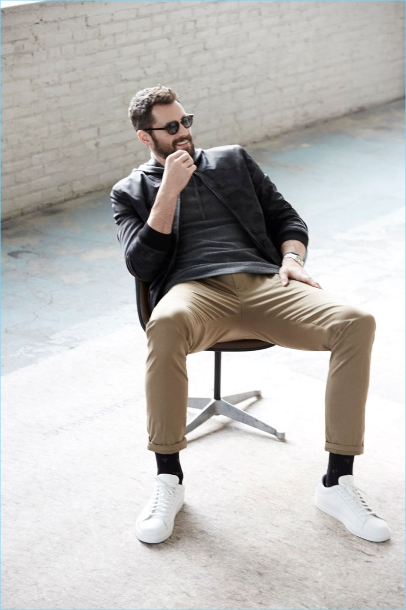 A cool vision, Kevin Love rocks shades and the latest fashions from Banana Republic.