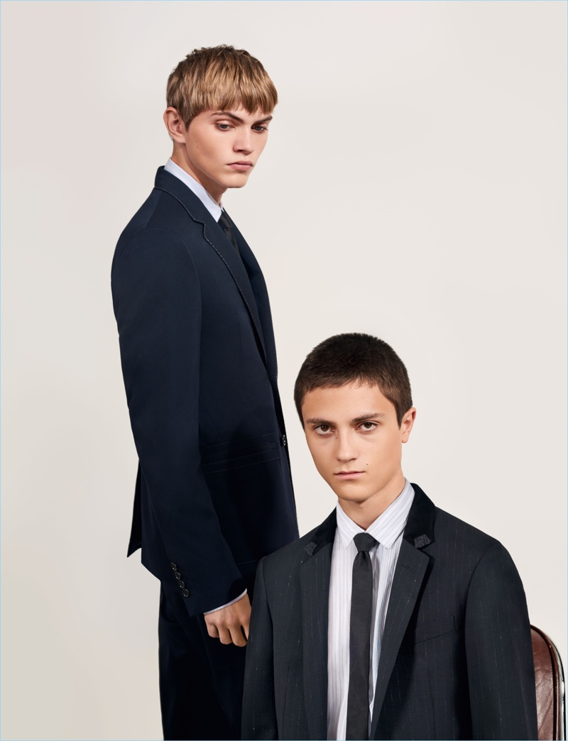 Donning suits, Jose Luis and Joaquim front Lanvin's spring-summer 2018 campaign.