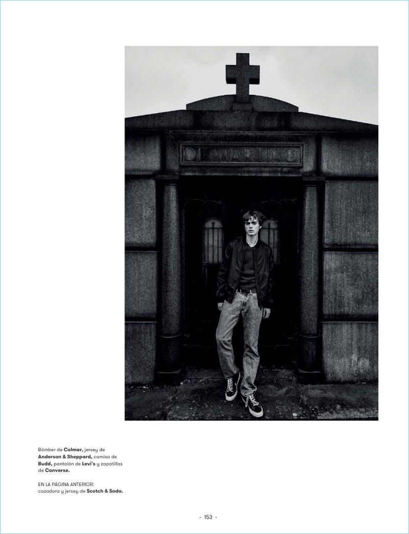 Lennon Gallagher Brings Rebellious Edge to L'Officiel Hommes España
