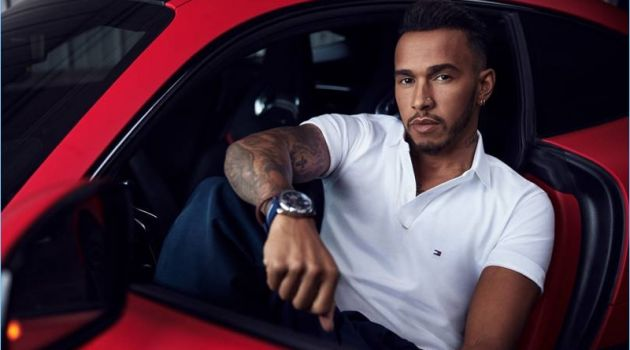 Lewis Hamilton makes his debut outing as the newest global ambassador of Tommy Hilfiger.