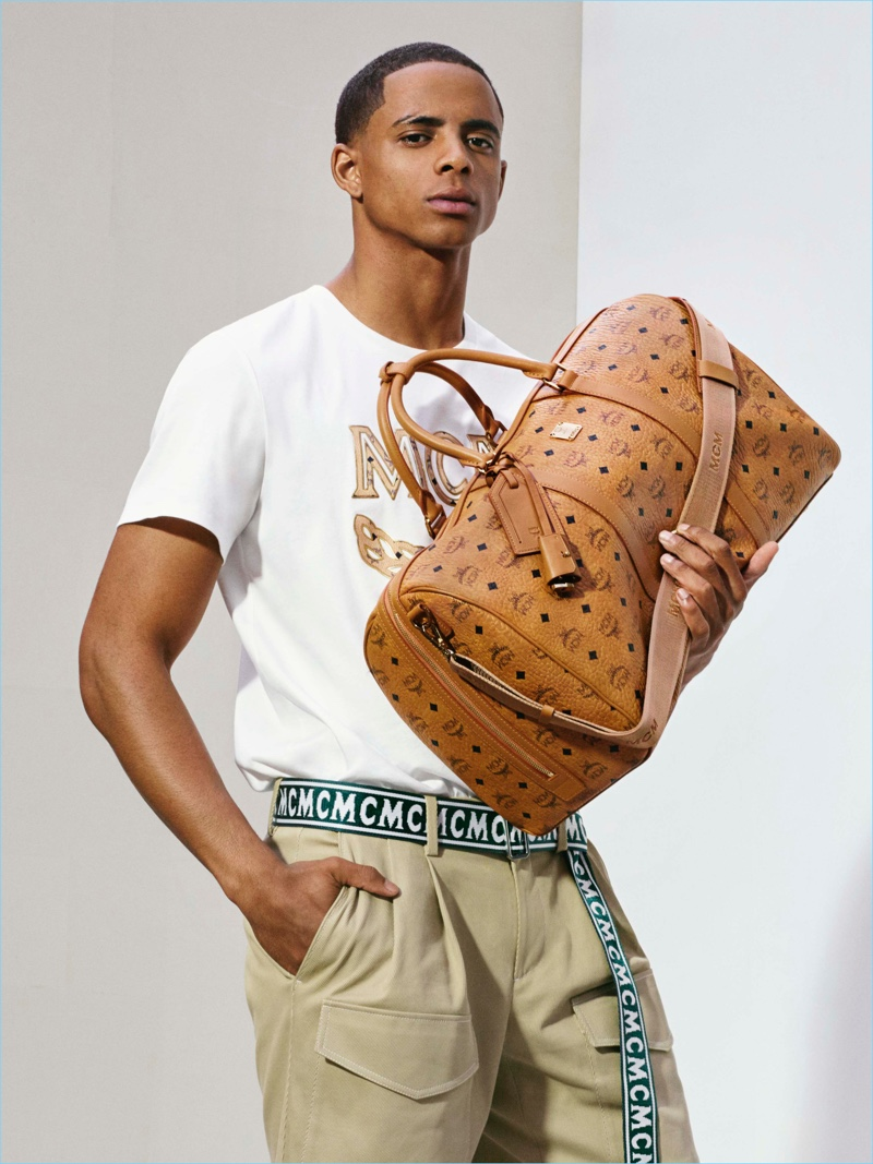 Cordell Broadus fronts MCM's spring-summer 2018 campaign.
