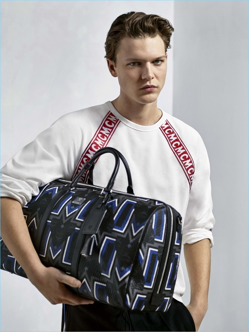 Kai Hillebrand stars in MCM's spring-summer 2018 campaign.