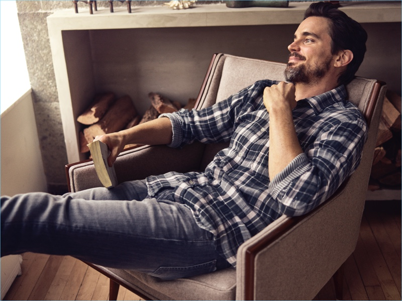 Actor Matt Bomer stars in 7 For All Mankind's spring-summer 2018 campaign.