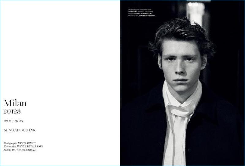 Noah Bunink Embraces Classic Hairstyles for L'Officiel Hommes Paris
