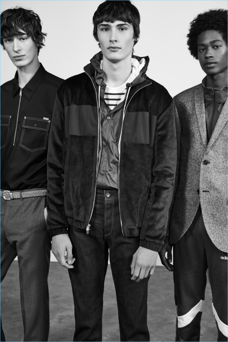 Dylan Fender, Laurens Pouchele, and Jonny Brown star in Nordstrom's spring 2018 men's campaign.