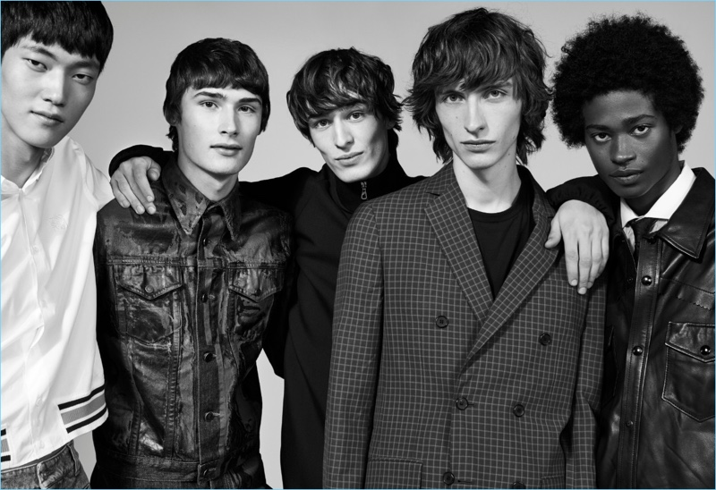 Jeong Yong Soo, Laurens Pouchele, Dylan Fender, Benno Bulang, and Jonny Brown star in Nordstrom's spring 2018 men's campaign.