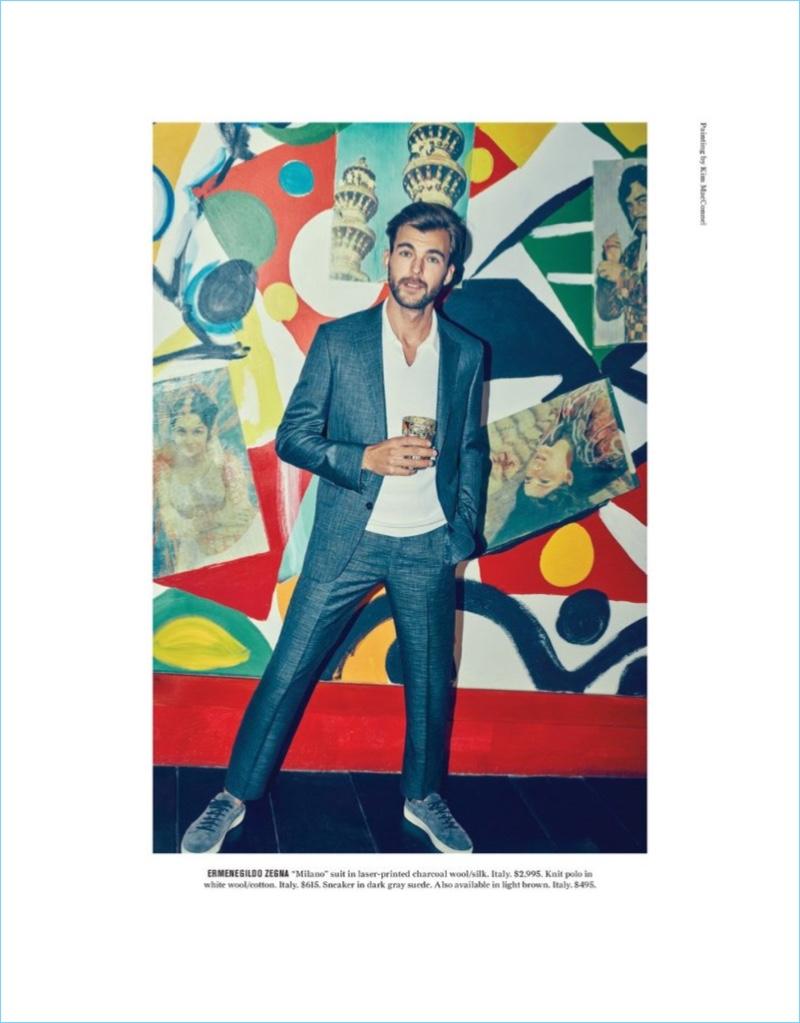An Artful Approach: Patrick Kafka Dons Spring Fashions for Bergdorf Goodman