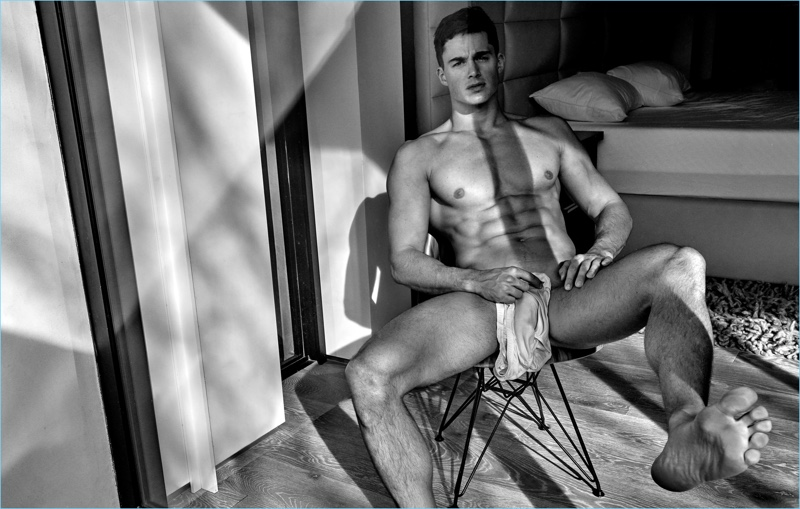 Pietro Boselli Goes Nude for Flaunt Shoot