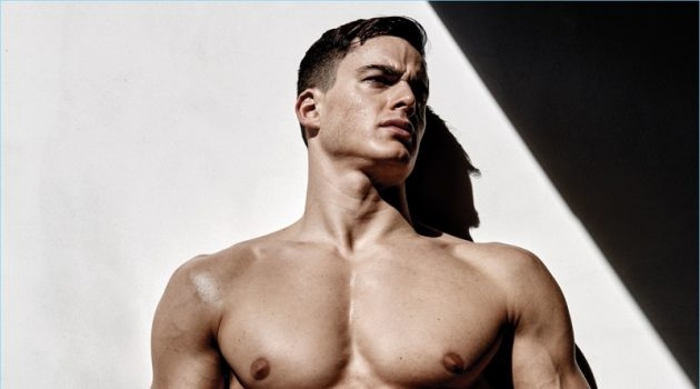 Pietro Boselli poses for the pages of Flaunt magazine.