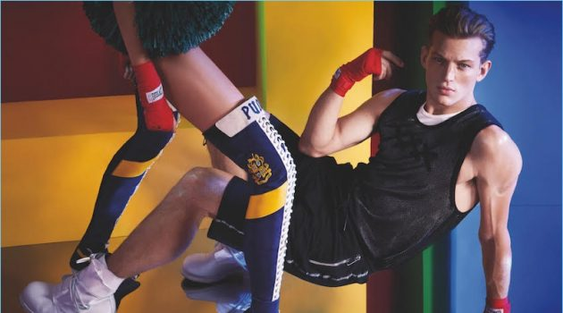 Pop Sport: Sebastian Sauvé Stars in Influencers Cover Shoot