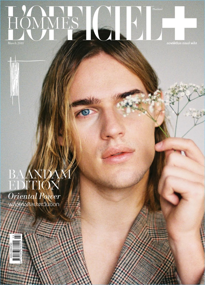 Bright Blue Eyes: Ton Heukels Stars in L'Officiel Hommes Thailand Cover Story