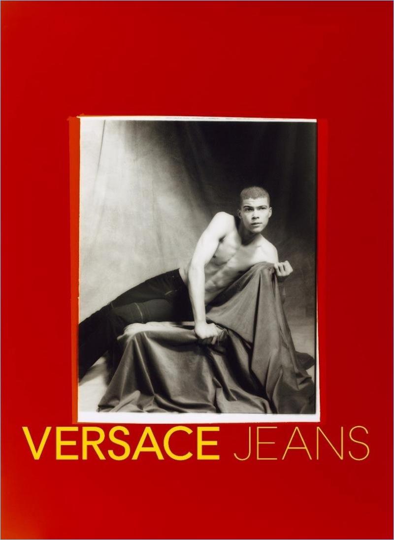 Leonard Mushiete stars in Versace Jeans' spring-summer 2018 campaign.