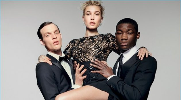 Rocky Harwood & Valentine Rontez Join Hailey Baldwin for Vogue Turkey