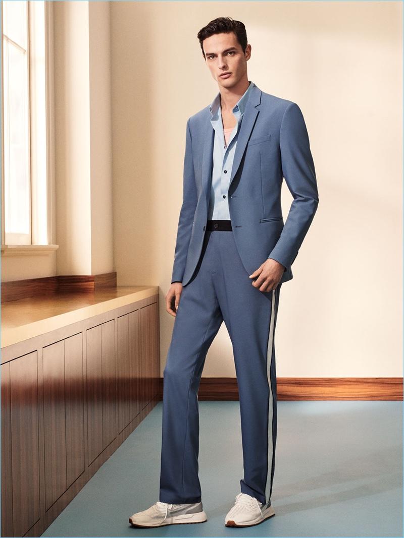 Hannes Gobeyn sports a sleek tailored number from Zara Man. d8f2a447fa2