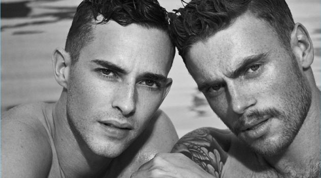 Carter Smith photographs Adam Rippon and Gus Kenworthy for Out magazine.