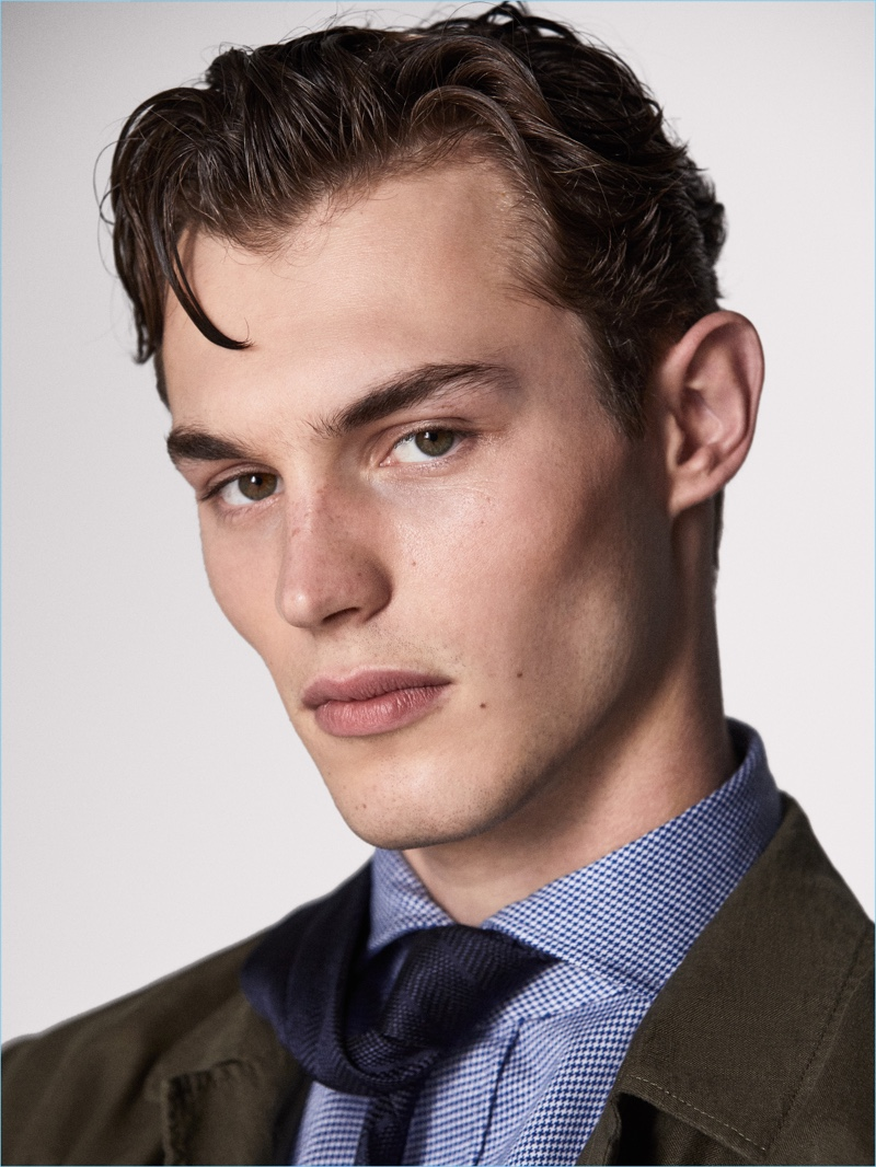 Ready for his close-up, Kit Butler is a dapper vision.