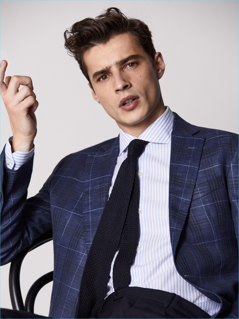 French model Adrien Sahores stars in a stylish shoot from Massimo Dutti.
