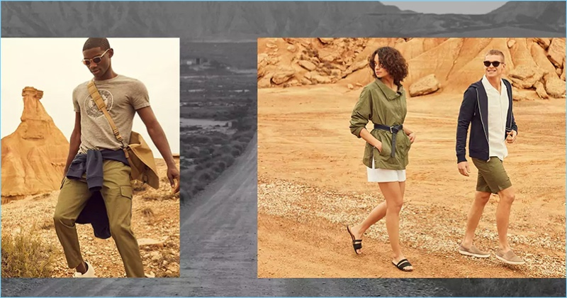 Banana Republic embraces a rugged appeal for its summer outing.