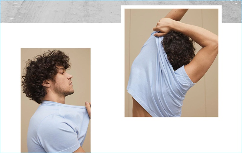 Miles McMillan sports a simple tee from Banana Republic's summer lineup.