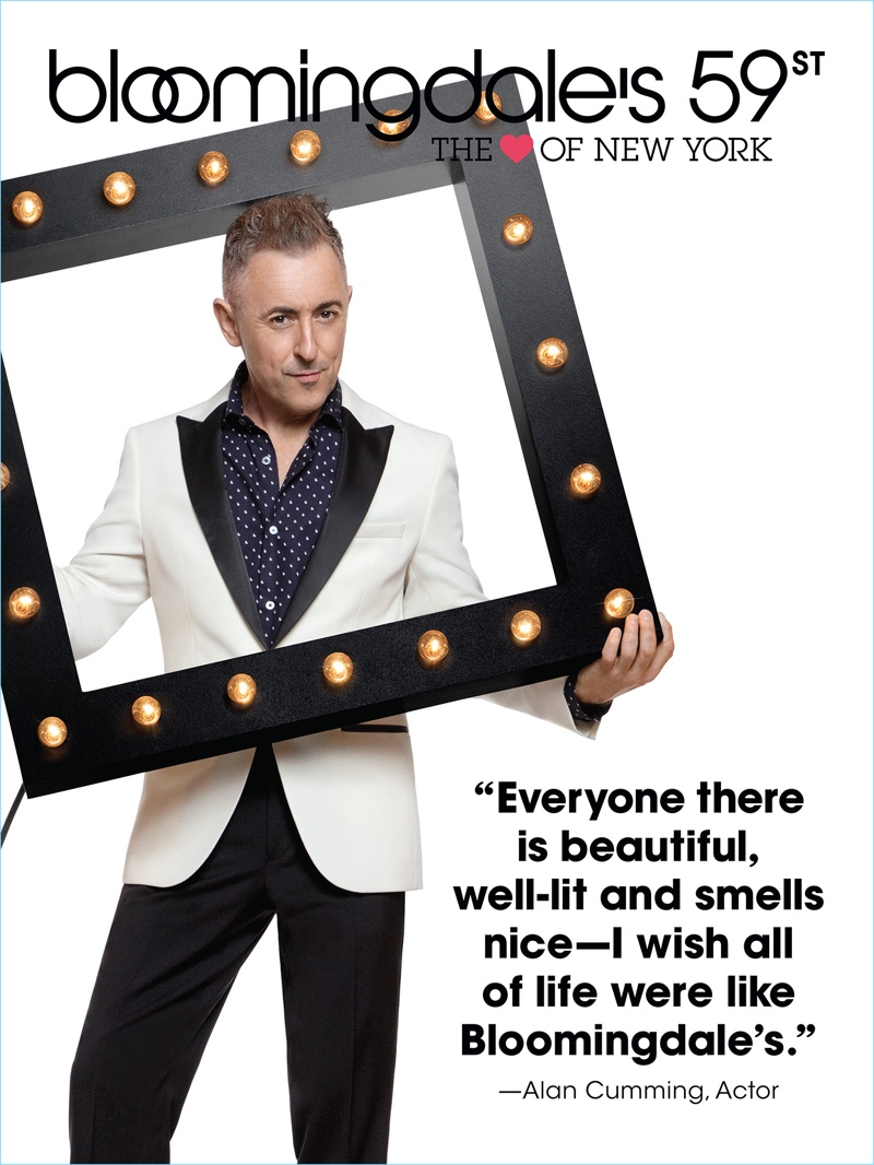 """Actor Alan Cumming stars in Bloomingdale's """"The Heart of New York"""" campaign."""