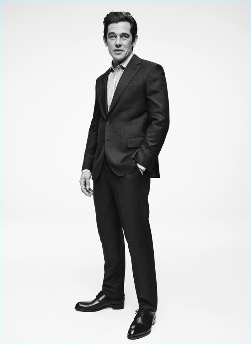 A sharp vision, Werner Schreyer dons a suit by Brioni.
