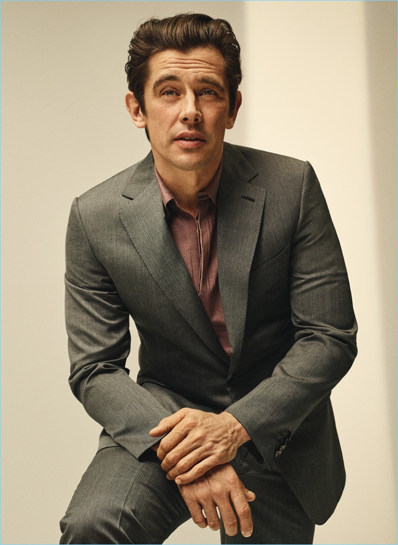 Model Werner Schreyer charms in a dapper suit from Brioni.