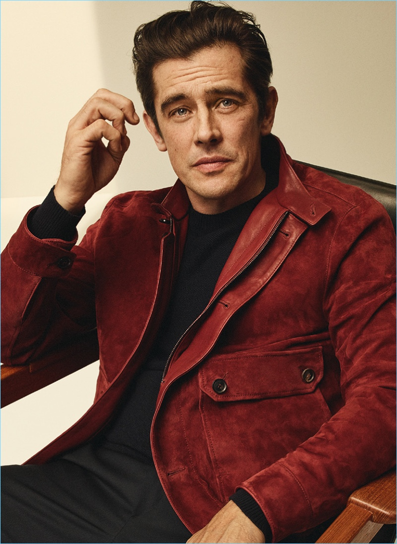 Donning a suede jacket, Werner Schreyer connects with Brioni for spring-summer 2018.