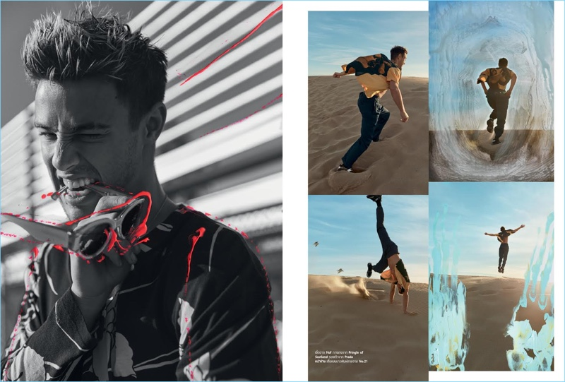 Cameron Dallas Takes to the Beach for Harper's Bazaar Men Thailand