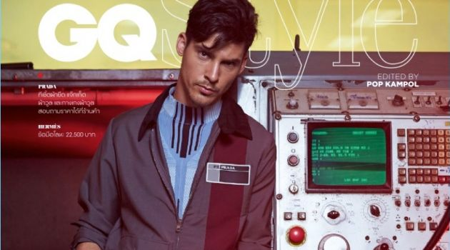 Chris Petersen Rocks Workwear-Inspired Styles for GQ Thailand
