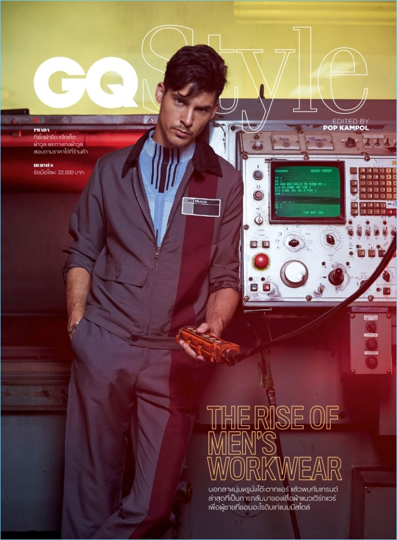 Chris Petersen Rocks Workwear-Inspired Styles for GQ Thailand