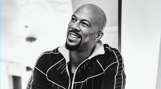 All smiles, Common wears a jacket and pants by Valentino with a top from Joe's Jeans.