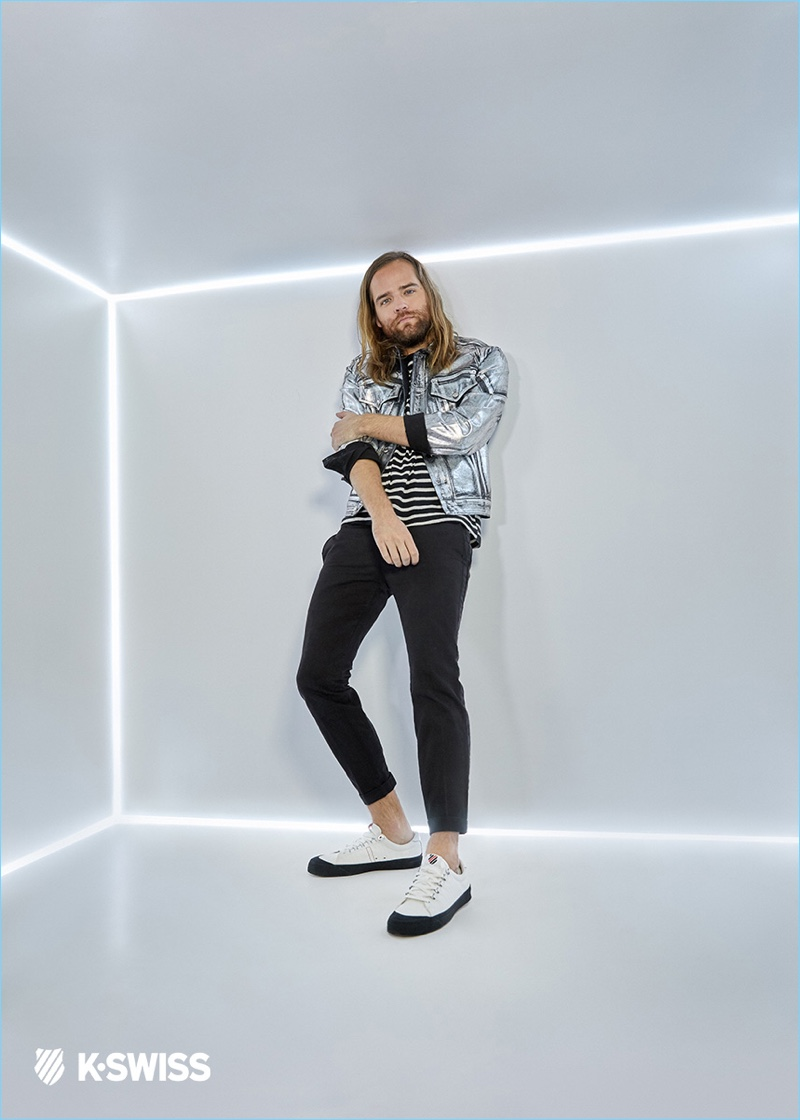 Jack Lawless is front and center for a K-Swiss campaign.