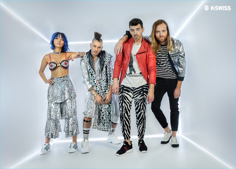 DNCE stars in a new campaign to launch its exclusive capsule collection with K-Swiss.