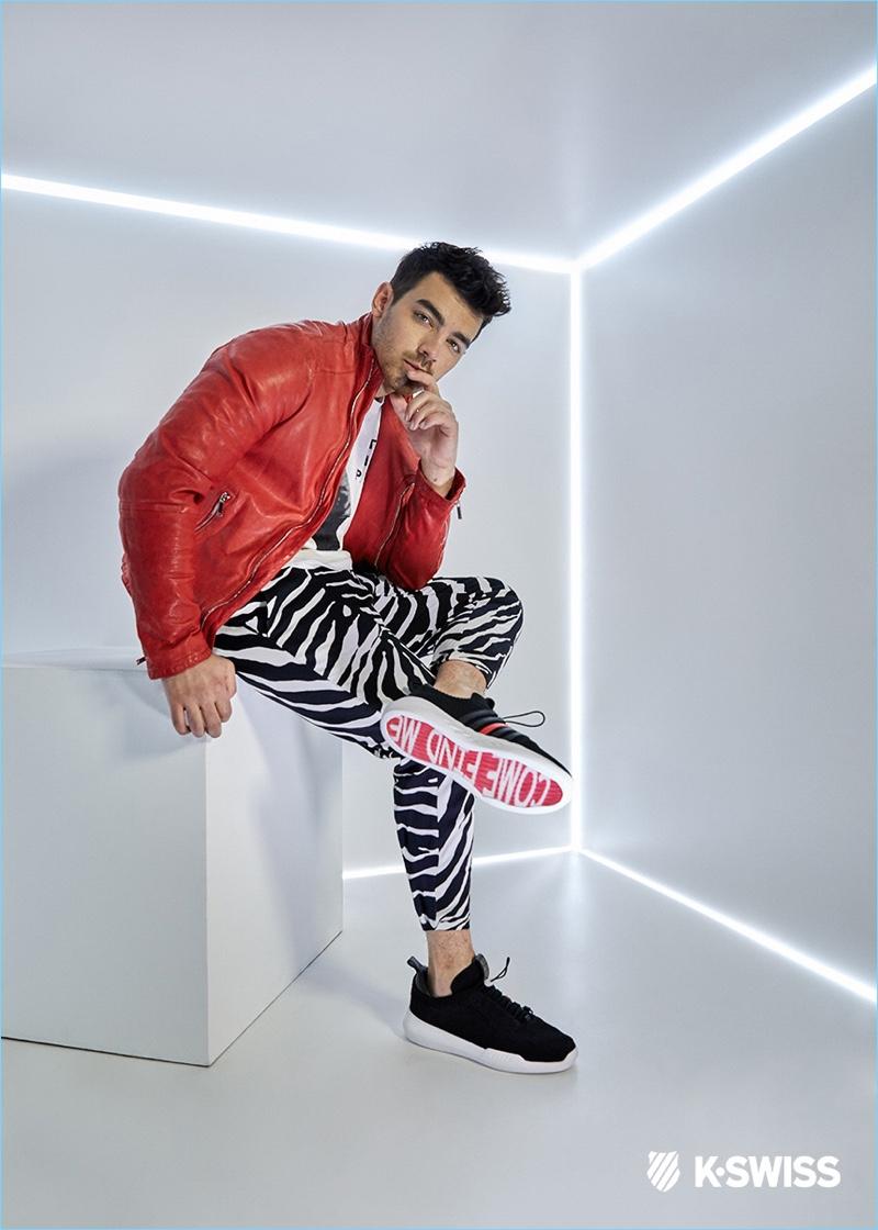 Joe Jonas stars in a campaign for K-Swiss.