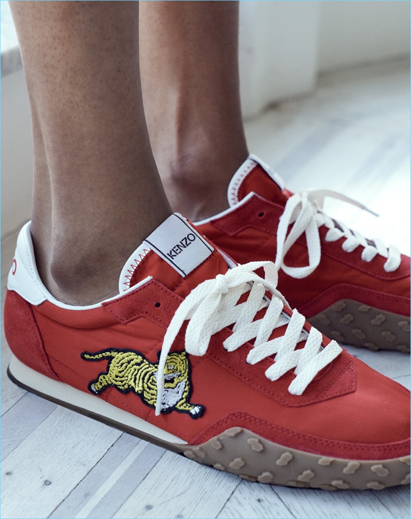 Make a red statement with Kenzo's Memento sneakers.
