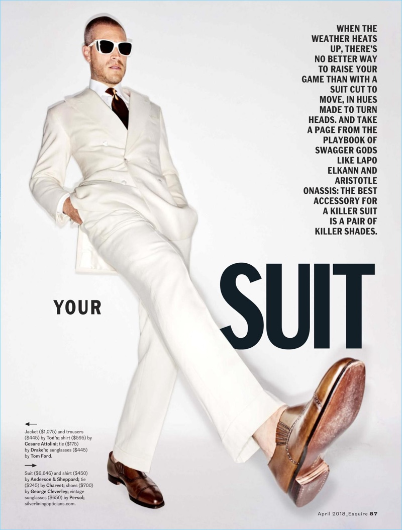 Thom Gwin, Mike Guenther & Ben Shaul Don Suits for Esquire