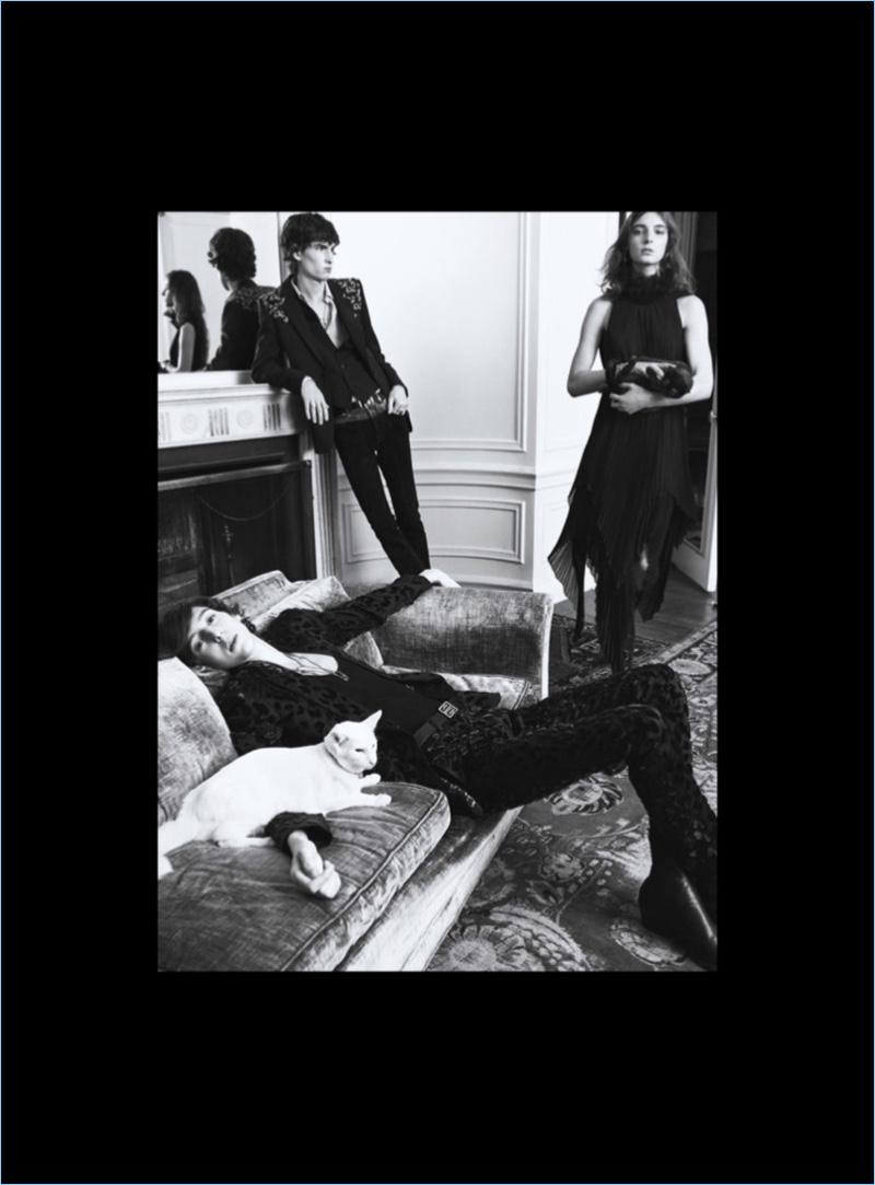 Hamid Khodja and Lucas Estievenart appear in Givenchy's spring-summer 2018 campaign.