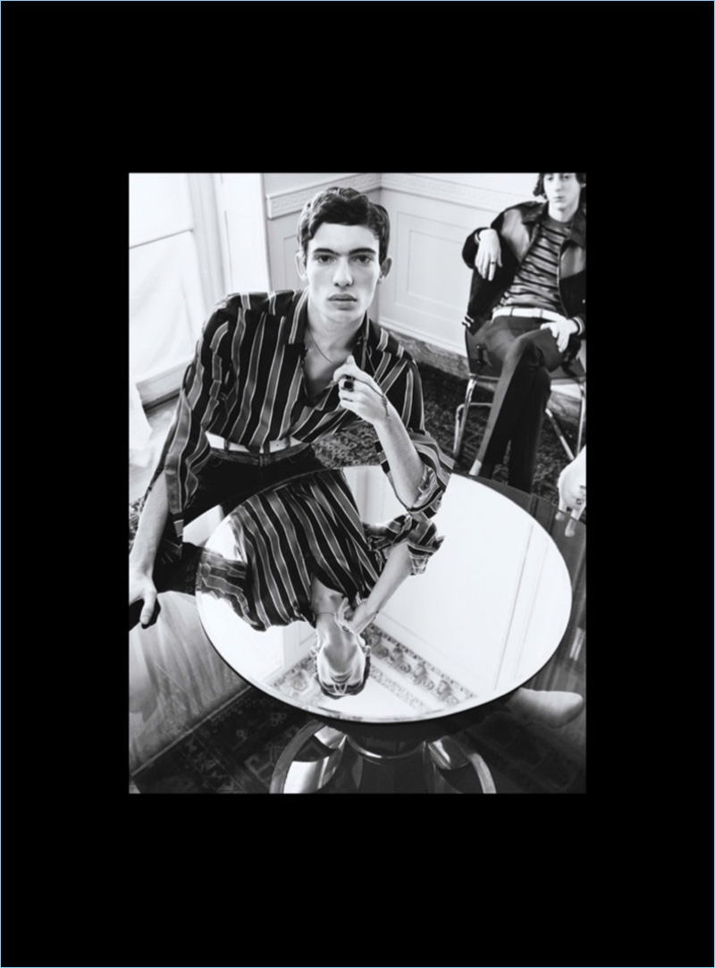 Piero Mendez is front and center for Givenchy's spring-summer 2018 campaign.
