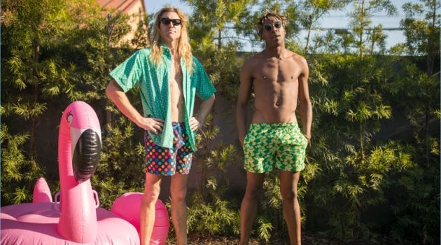 Happy Socks launches men's swimwear with fun and colorful prints.