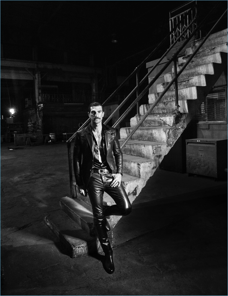 The Daddy: Henrik Fallenius Dons Coach Leather for British GQ Style