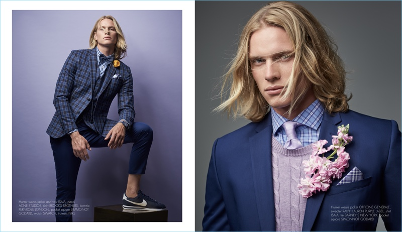 Hunter Bach Goes Sartorial for The Perfect Man
