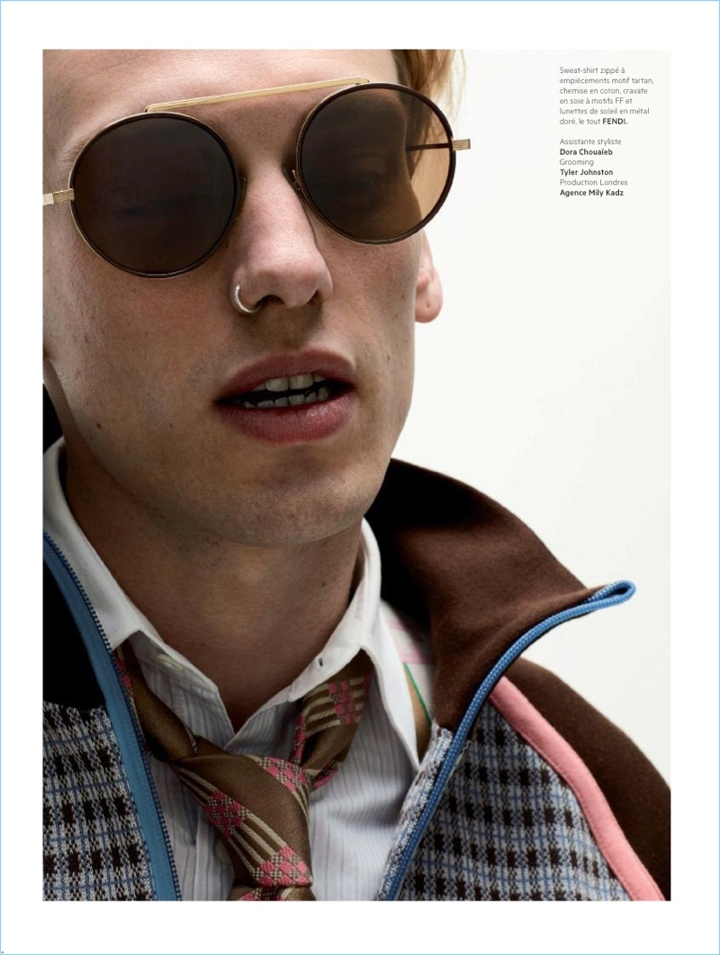 Rocking must-have Fendi sunglasses, Jamie Campbell Bower stars in a photo shoot.
