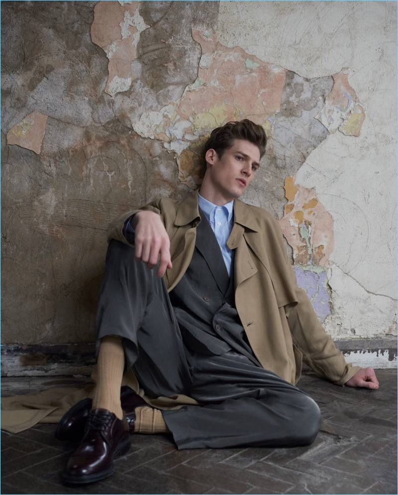 Joel Meacock Dons Relaxed Tailoring for How to Spend It
