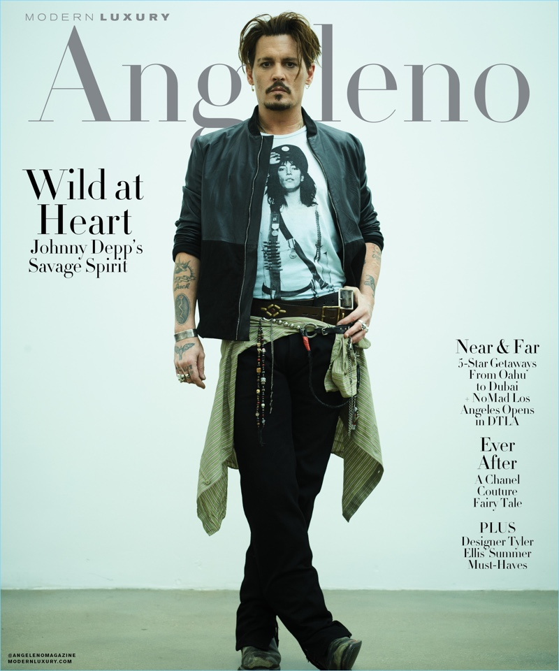 Johnny Depp covers Modern Luxury Angeleno.