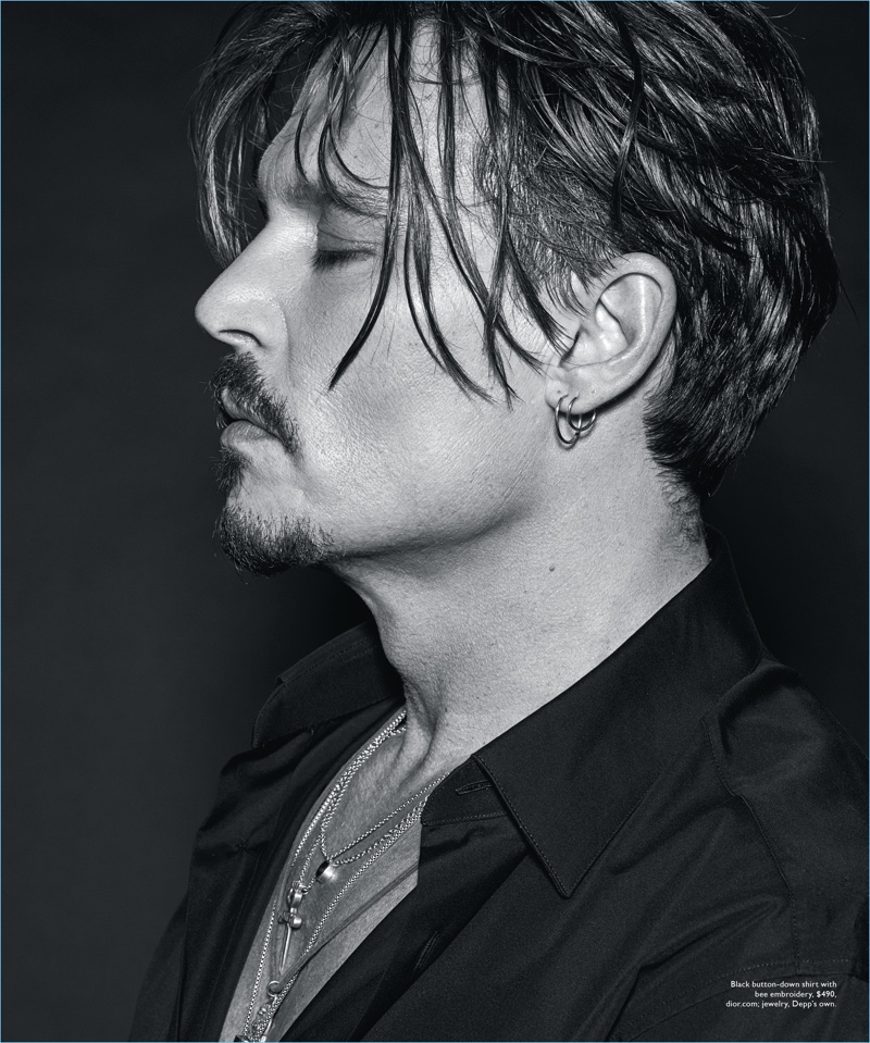 Delivering a side profile, Johnny Depp graces the pages of Modern Luxury.